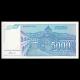 Yugoslavia, P-141, 5000 dinara, 1994