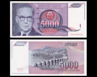 Yougoslavie, p-111, 5 000 dinara, 1991