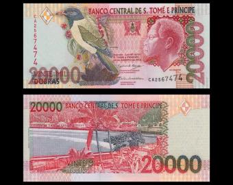 SÃO TOMÉ E PRÍNCIPE, p-67c, 20.000 dobras, 2004