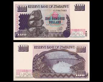 Zimbabwe, p-9, 100 dollars, 1995