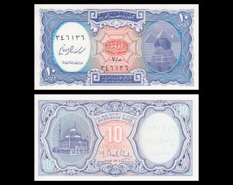 Egypte, P-191, 10 piastres, 2006