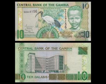 Gambia, p-26b, 10 dalasis, 2010