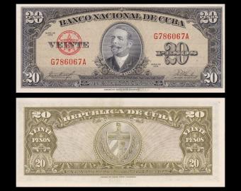 C, P-80b, 20 pesos, 1958, SPL/A-UNC