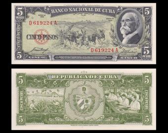 C, p-91a, 5 pesos, 1958