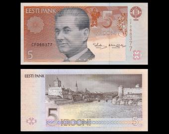 Estonia, P-76, 5 krooni, 1994
