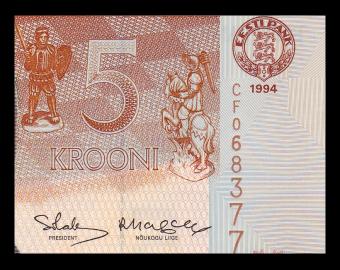 Estonie, P-76, 5 krooni, 1994