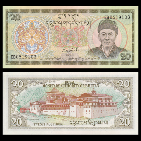 Bhoutan, p-16b, 20 ngultrum, 2000