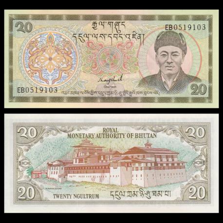 Bhutan, p-16b, 20 ngultrum, 2000