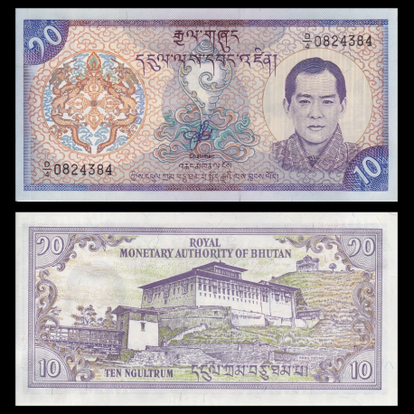 Bhutan, P-22, 10 ngultrum, 2000
