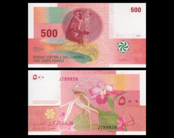 Comores, p15b, 500 francs, 2006
