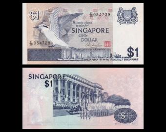 Singapour, P-09, 1 dollar, 1976