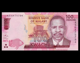 Malawi, P-65b, 100 kwacha, 2016