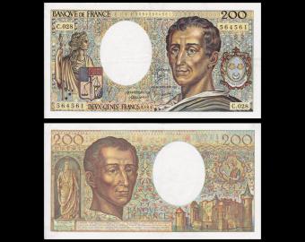 France, P-155a, 200 francs, 1984-85, TTB / VeryFine