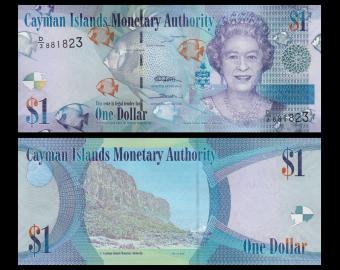 Cayman Islands, p-38c 1 dollar, 2010