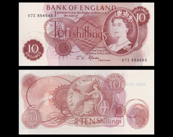 England, P-373c, 10 shillings, 1970