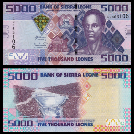 Sierra Leone, p-32b, 5000 leones, 2013