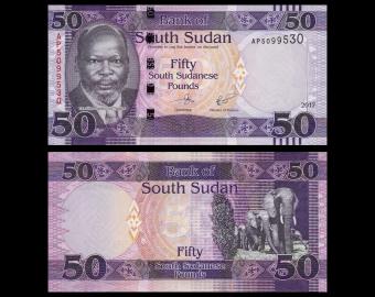 South Sudan, P-14c, 50 pounds, 2017