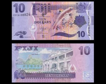 Fidji, P-116, 10 dollars, 2012