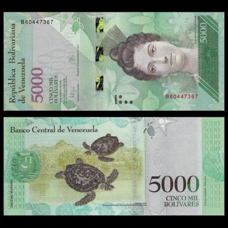 Venezuela, p-97a, 5000 bolivares, 2016