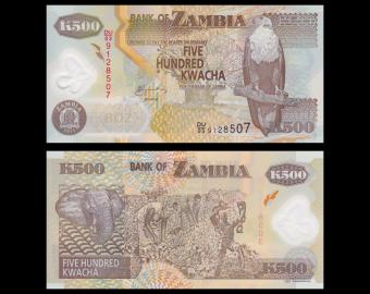 Zambia, P-43h, 500 kwacha, 2011, Polymer