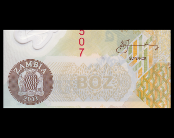 Zambie, P-43h, 500 kwacha, 2011, Polymère
