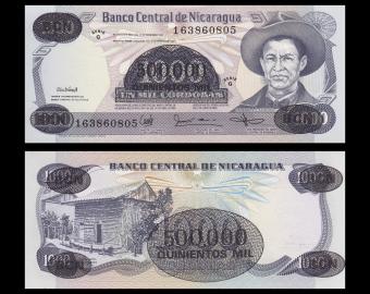 Nicaragua, P-150, 500 000 cordobas, 1987
