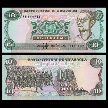Nicaragua, P-151, 10 cordobas, 1985