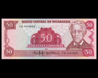 Nicaragua, P-153, 50 cordobas, 1985