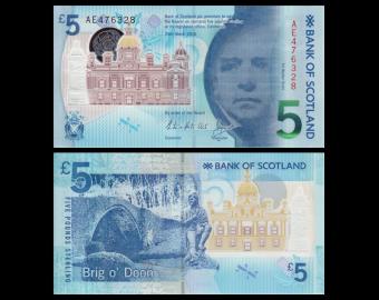 Scotland, p-130, 5 pounds, 2016