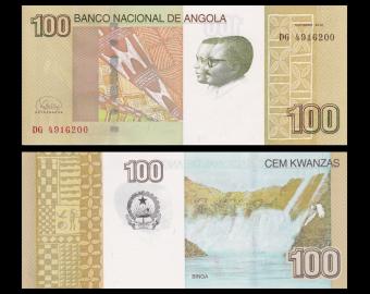 Angola, p-153b, 100 kwanzas, 2012