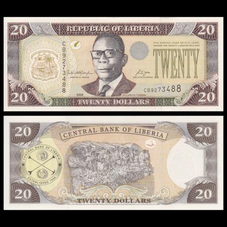 Liberia, P-28c, 20 dollars, 2006