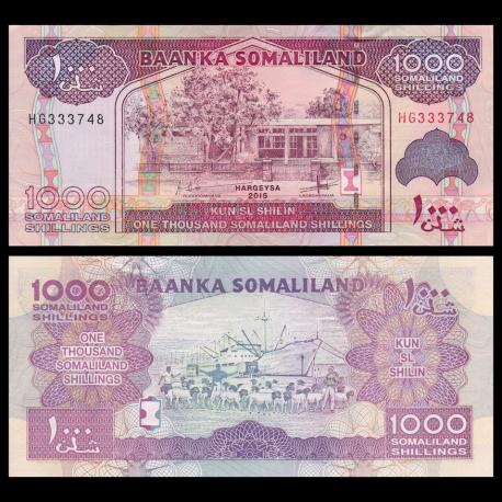 Somaliland, P-20d, 1000 shillings, 2015