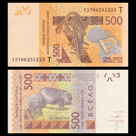 Togo, p-819Tb, 500 francs, 2013