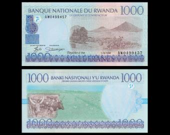 Rwanda, P-27a, 1000 francs, 1998