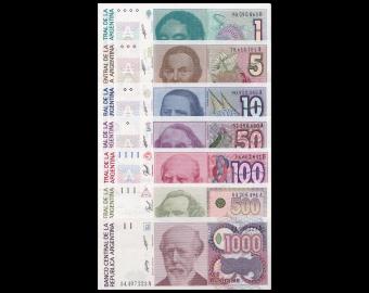 Argentine, série de 10 billets,1985-91