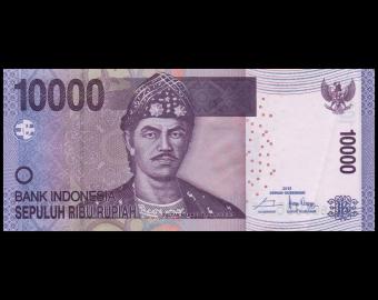Indonésie, P-150g, 10 000 rupiah, 2015, SUP/ExtFine