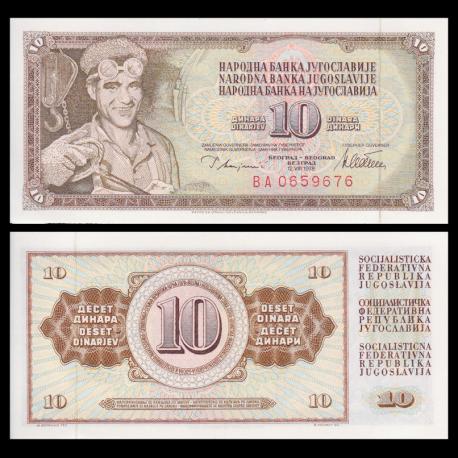 Yougoslavie, P-087a, 10 dinara, 1978
