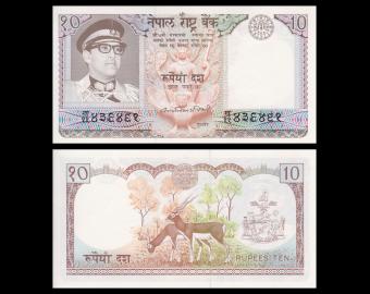 Nepal, p24b, 10 rupees, 1979-1984