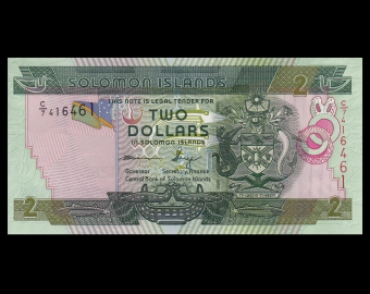 Solomon Islands, P-25b, 2 dollars, 2011