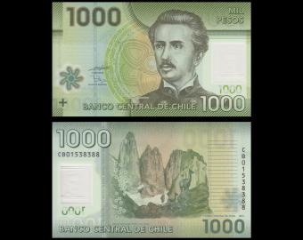 Chili, p-161a, 1000 pesos, 2010, Polymere