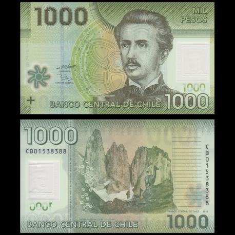 Chile, p-161a, 1000 pesos, 2010, Polymer