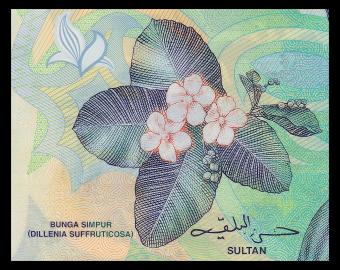 Brunei Darussalam, P-35c, 1 ringgit, Polymère, 2016