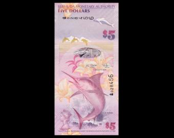 Bermuda, P-58, 5 dollars, 2009