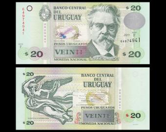 Uruguay, P-86b, 20 pesos, 2011