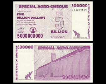 Zimbabwe, P-61, 5.000.000.000 dollars, 2008