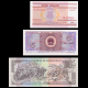 Lot 3 banknotes of 5 : Belarus China Honduras