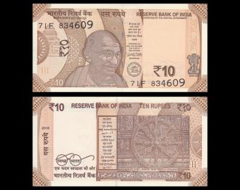 Inde, P-110e, 10 roupies, 2018