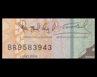 Rép Dominicaine, P-182, 20 pesos oro, 2009, polymere