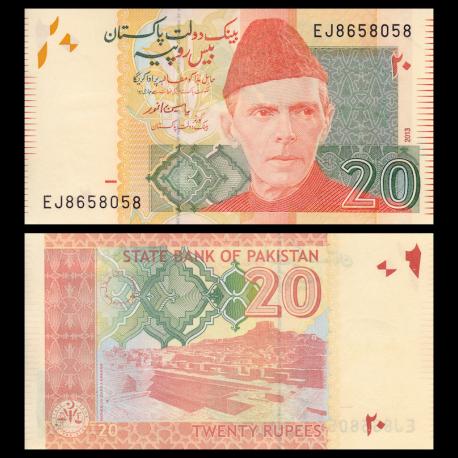 Pakistan, P-55f, 20 roupies, 2013
