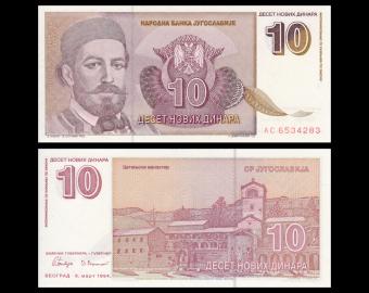 Yugoslavia, P-149, 10 dinara, 1994.
